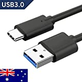 Innovate Tech Australia, USB C Cable, 1 Meter 3.3 FT, Black, USB C to USB A 3.0 3.1 Fast Charge Cable 5 Gbps for USB C Port Device 56k OHM Resistor 8000+ Bends, Compatible Devices Includes But Not Limited To: Samsung Galaxy Note 8, Galaxy S8 Plus, Galaxy S8, Galaxy S9, Galaxy S9 Plus, Google Pixel, Pixel XL, Pixel 2, Pixel 2 XL, Google Chromebook, Nexus 5X/6P, LG V30/G6/V20/G5, Lenovo Z5, Sony XZ, Xiaomi 5, Nokia 8, Nintendo Switch, Apple Macbook, Macbook Pro, HTC 10, U11