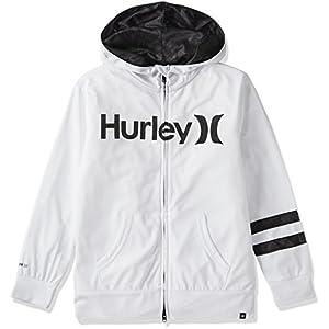 (ハーレー)HURLEY キッズ ラッシュガード RASH ZIP OPEN HOOD BKHZLY50 10A M