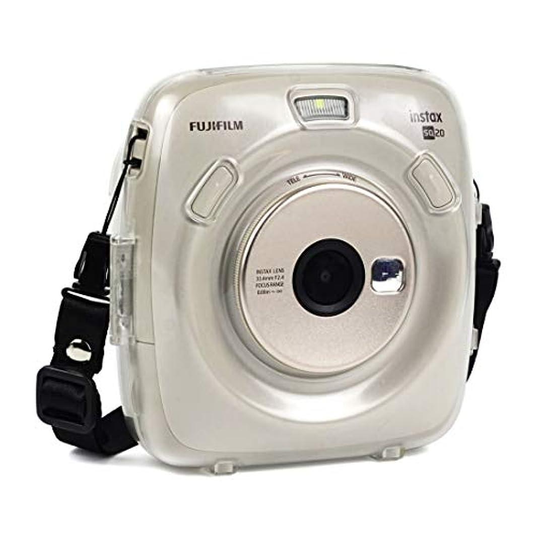 地雷原再生的笑MEIカメラ用アクセサリ Fujifilm Instax Square SQ20用ストラップ付き保護クリスタルシェルケース カメラ保護ケース