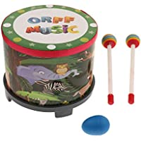 P Prettyia ハンドドドラム ドラムスティック付き 打楽器 イベント用 子供用 知育玩具 音楽玩具 楽器
