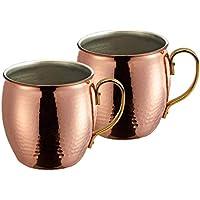 パール金属 日本製 マグカップ 500ml 2個セット 燕人の匠 純銅製槌目 新潟県燕市製造 HB-7940