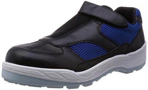 [シモン] プロスニーカー 短靴 マジック 8818 黒/ブルー 27.5 cm 3E