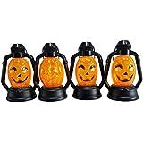 BESTOYARD ハロウィン提灯 ハロウィン パンプキン ランタン かぼちゃ提灯 パンプキンライト ハロウィン装飾 4個セット 吊りライト(ランダムパターン)