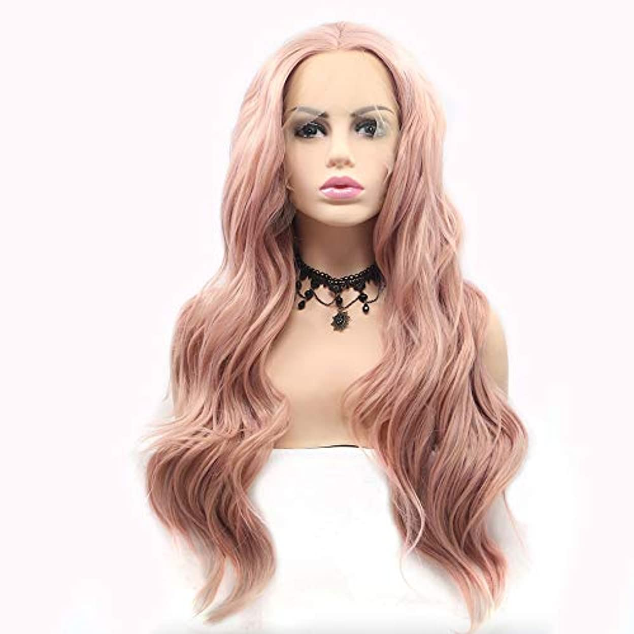 自分の奇跡封筒HAILAN HOME-かつら ピンクビッグロールウィッグレディハンドレースのヨーロッパとアメリカのウィッグセットウィッグセットナチュラル自然換気ビッグウェーブロール粘り強い髪
