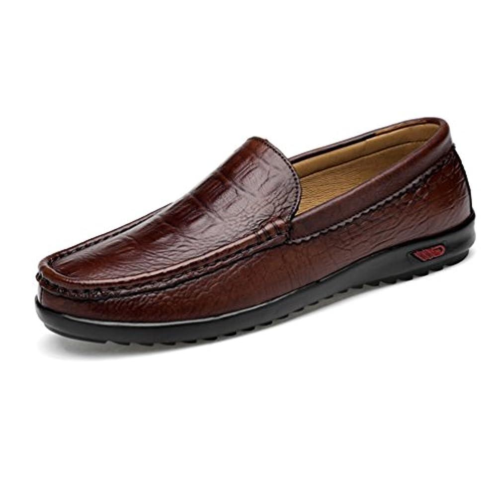推測光の幸運なことにドライビングシューズ メンズ スリッポン クロコダイル柄 型押し かっこいい ビジネス 父の日 デッキシューズ 防滑 カジュアル フォーマル 通勤 オフィス 革靴 軽い おしゃれ 仕事 24.0cm-28.5cm ローファー