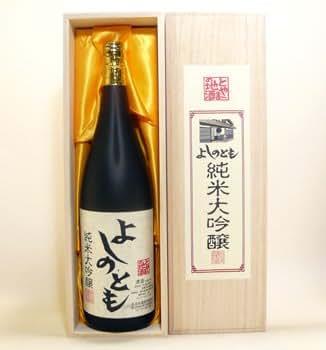 よしのとも 純米大吟醸 1800ml 木箱入 吉乃友酒造