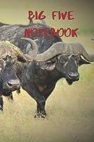 Big Five Notebook: Cape Buffalo