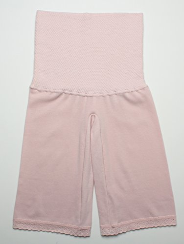 インナーウェア三恵 婦人用腹巻付きズボン下 5分丈 3565 日本製 ゆったり 遠赤外線 M ピンク