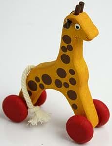 ころころ木製玩具(キリン)