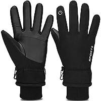 938d25b08d091d 防寒手袋 バイク グローブ 冬 ランニンググローブ Cevapro スマホ タッチパネル対応 手袋 防水 防寒防風 -