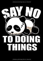 Notizbuch: Panda Faul Schlafen Nichts Tun Couch Geschenk 120 Seiten, A4, Punktraster