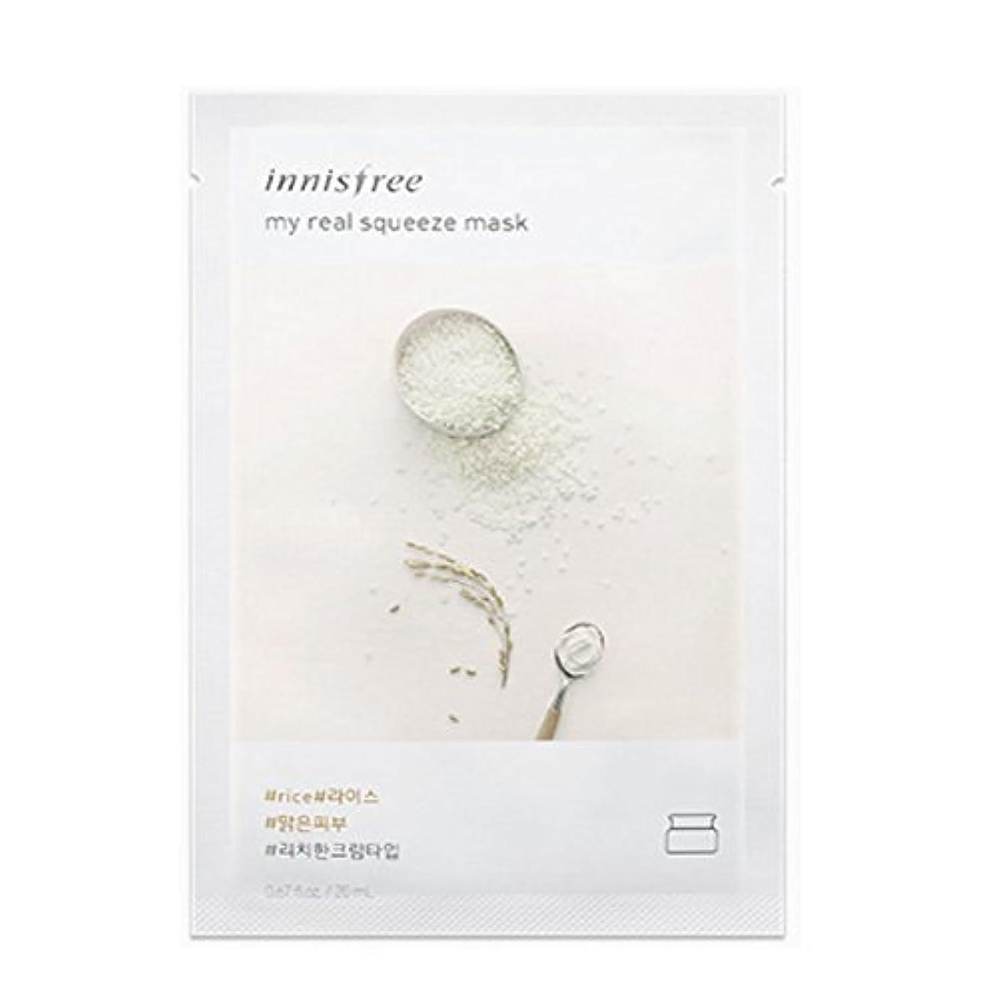 貝殻農学医療のイニスフリーマイレアルスクイーズマスクシート20ml x 10pcs Innisfree My Real Squeeze Mask Sheet 20ml x 10pcs [海外直送品][並行輸入品] (12.ライス)