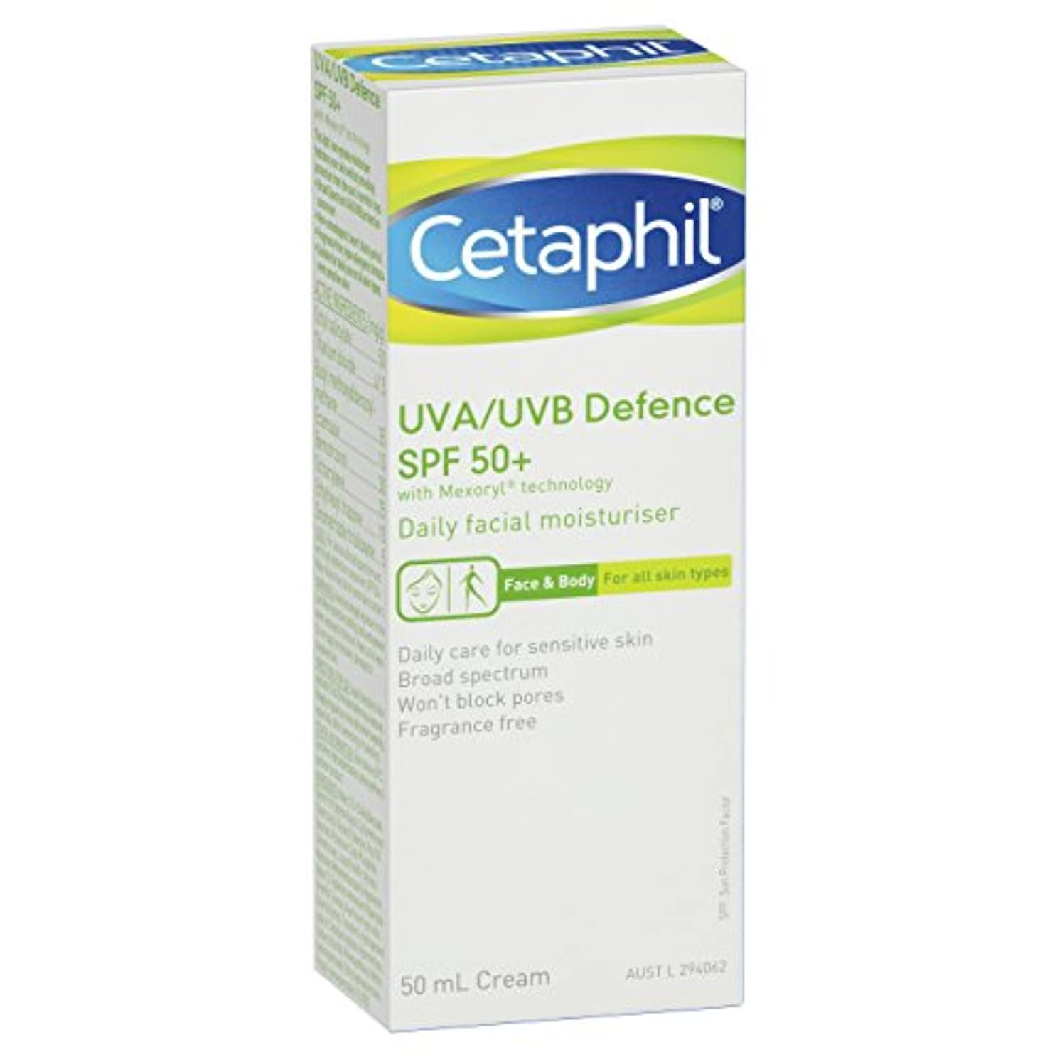 見通し話す軍団Cetaphil UVA/UVB Defence SPF 50+ 50mL