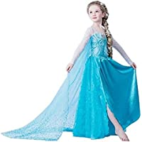 (7-8 years, DRESS-202) - UK1stChoice-Zone Girls Snow Queen Party Outfit Fancy Dress Costume Princess Cosplay FBA-IT & ES-DRESS202 (7-8 years, DRESS-202)