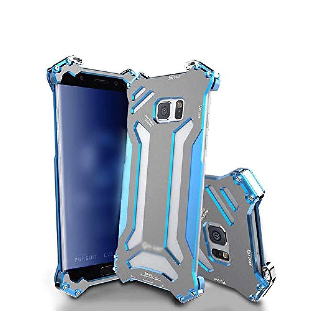 言語これまでペストリーTonglilili SamsungのノートFEのための携帯電話の箱、金属の電話箱の携帯電話の付属品の金属フレームの移動式貝の低下 (Color : 青, Edition : Note FE)