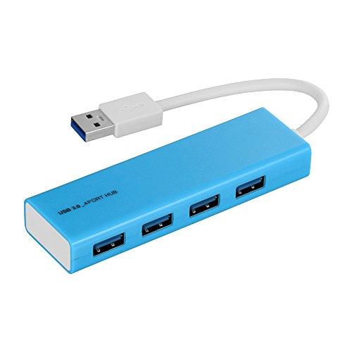 ナカバヤシ Digio2 USB3.0 4ポートハブ ブルー UH-3034BL