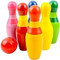 Tabletop子供Bowling Toy SetインドアOversize木製おもちゃ
