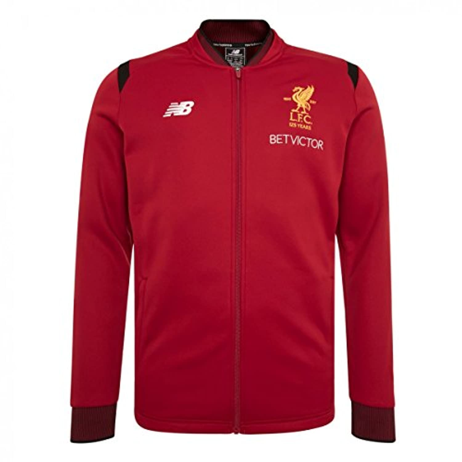 New Balance Men's Liverpool FC Elite Training Walk Out Jacket - Red Pepper サッカー リヴァプールFC ジャケット (US Size Medium)
