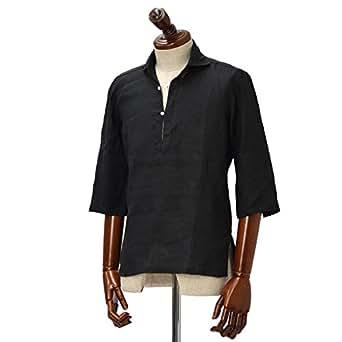 Mario Muscariello【マリオムスカリエッロ】カプリシャツ R2MC0148 リネン ブラック(XS)