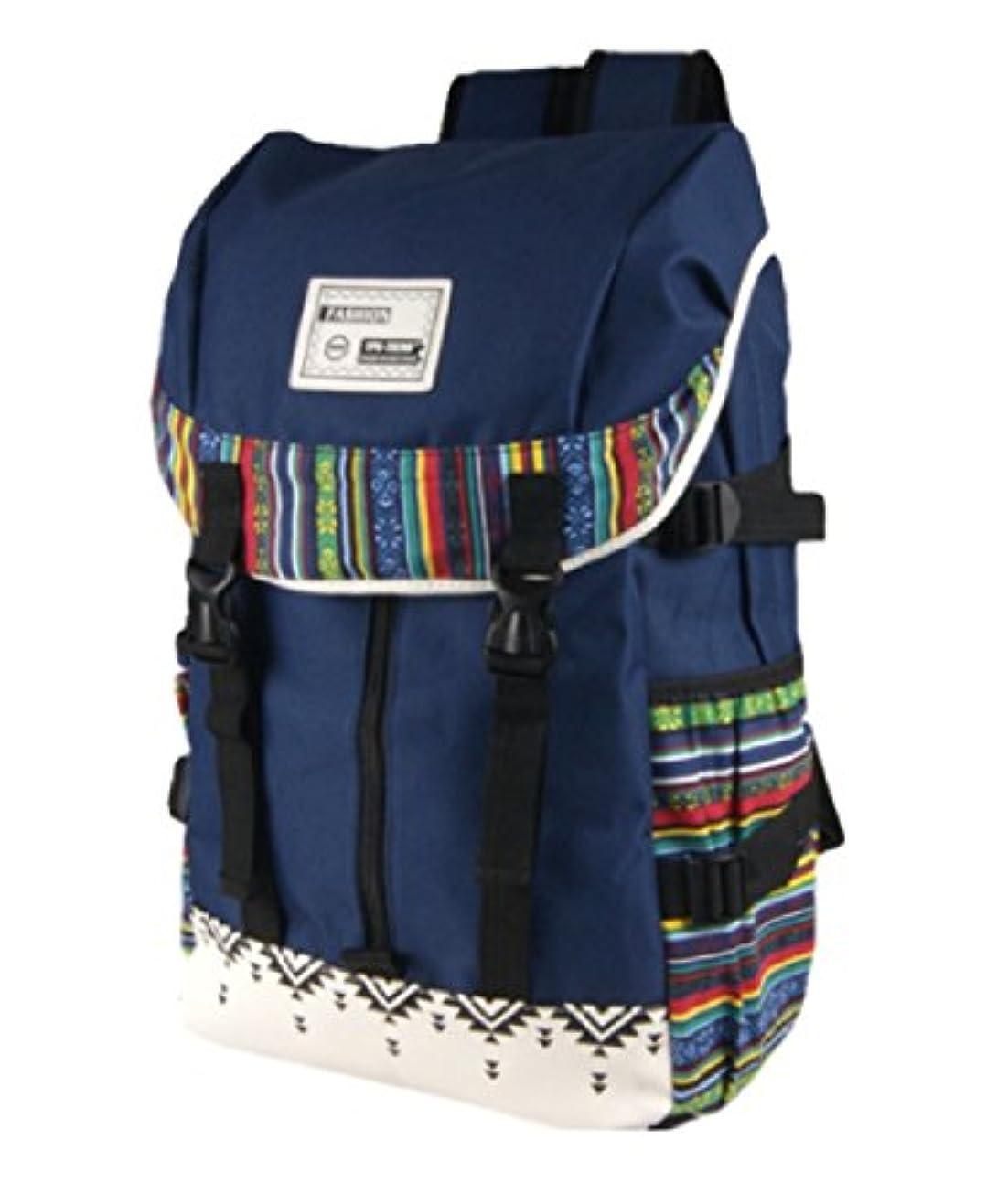 ほこりっぽい敬礼エステートKLU リュック リュックサック 大容量 エスニック デザイン バックパック バッグ 帆布 キャンバス 生地 旅行