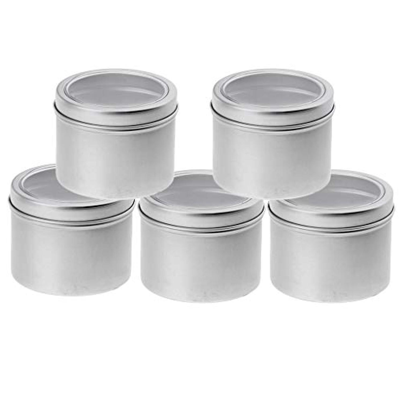 アクセント鏡撤退IPOTCH 5個セット 100ml アルミ缶 小分け容器 詰め替え容器 クリームケース 化粧品 収納ボックス
