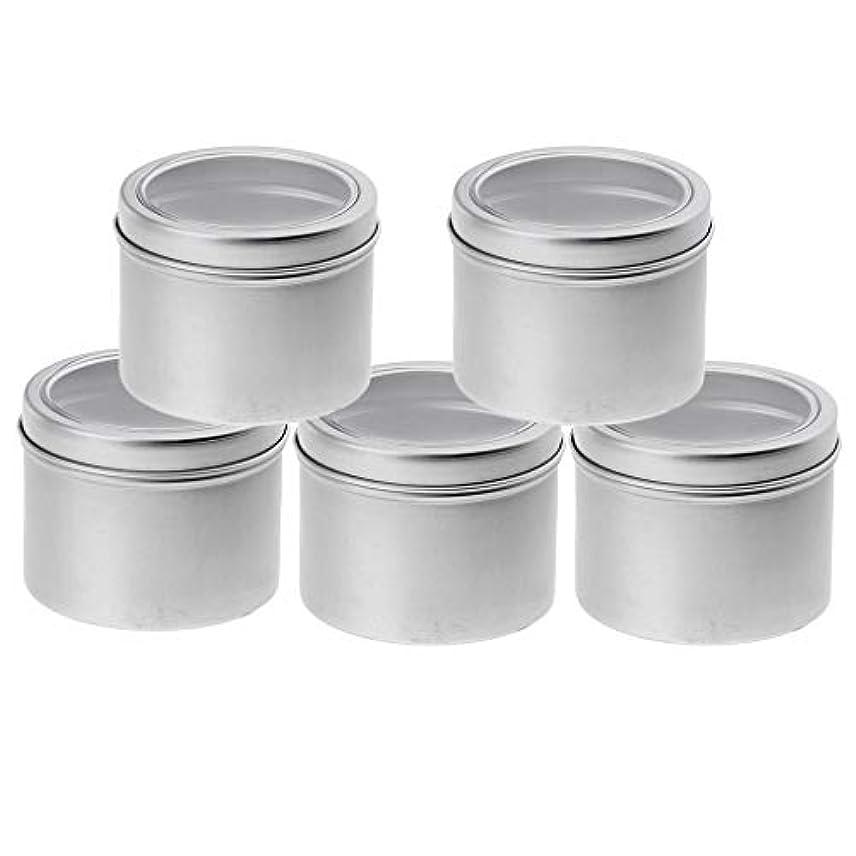 ブラウス眩惑する何IPOTCH 5個セット 100ml アルミ缶 小分け容器 詰め替え容器 クリームケース 化粧品 収納ボックス