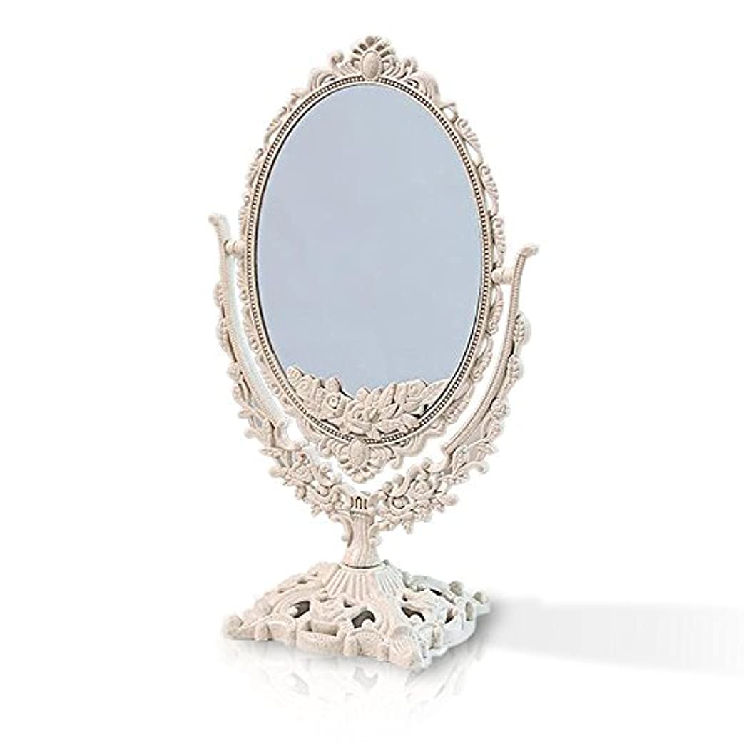 種をまく底放棄する桜の雪 【3倍拡大鏡付き】 両面化粧鏡  ヨーロッパ式 (大きい型)