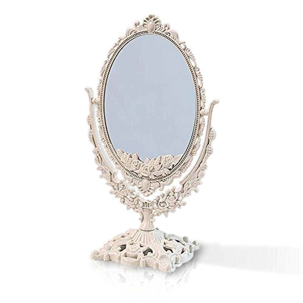 鋭くクレーター同封する桜の雪 【3倍拡大鏡付き】 両面化粧鏡  ヨーロッパ式 (大きい型)