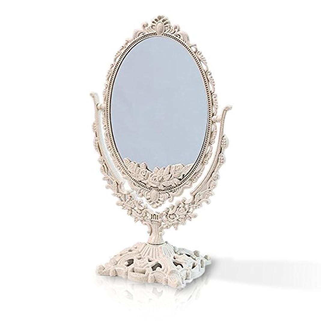 自信がある悲観的安息桜の雪 【3倍拡大鏡付き】 両面化粧鏡  ヨーロッパ式 (大きい型)