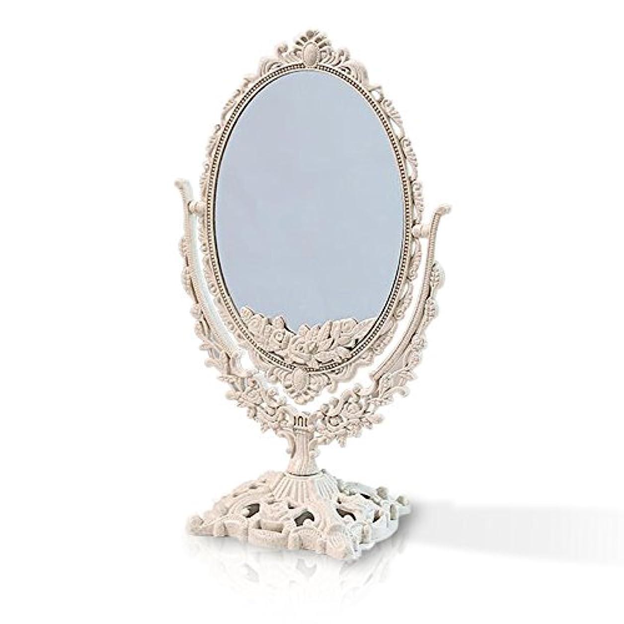 沿ってスナック折る桜の雪 【3倍拡大鏡付き】 両面化粧鏡  ヨーロッパ式 (大きい型)