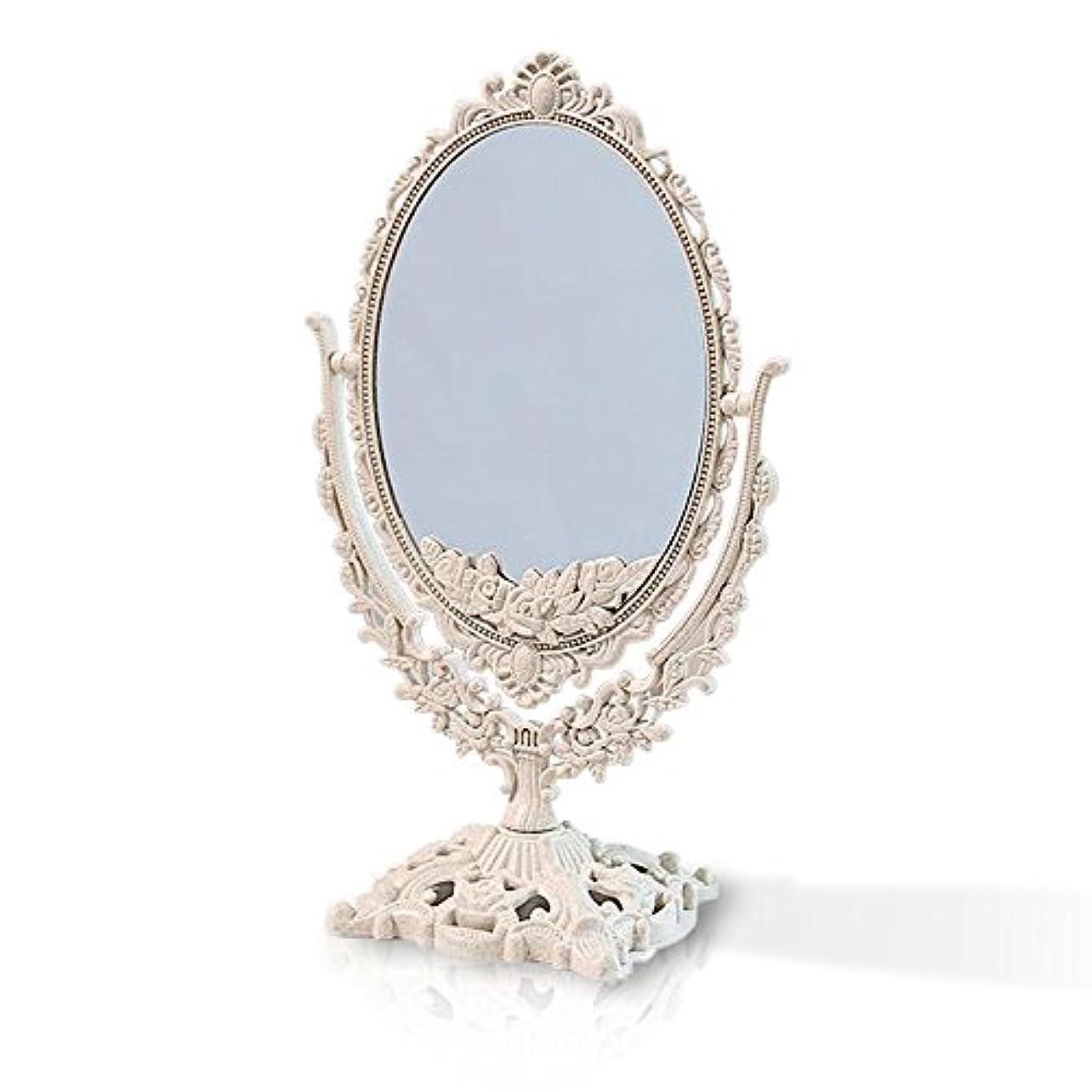 概して整理する実現可能桜の雪 【3倍拡大鏡付き】 両面化粧鏡  ヨーロッパ式 (小さい型)