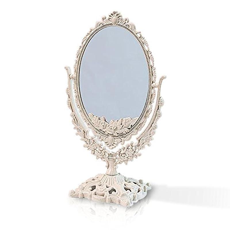 正確さ貢献広々とした桜の雪 【3倍拡大鏡付き】 両面化粧鏡  ヨーロッパ式 (大きい型)