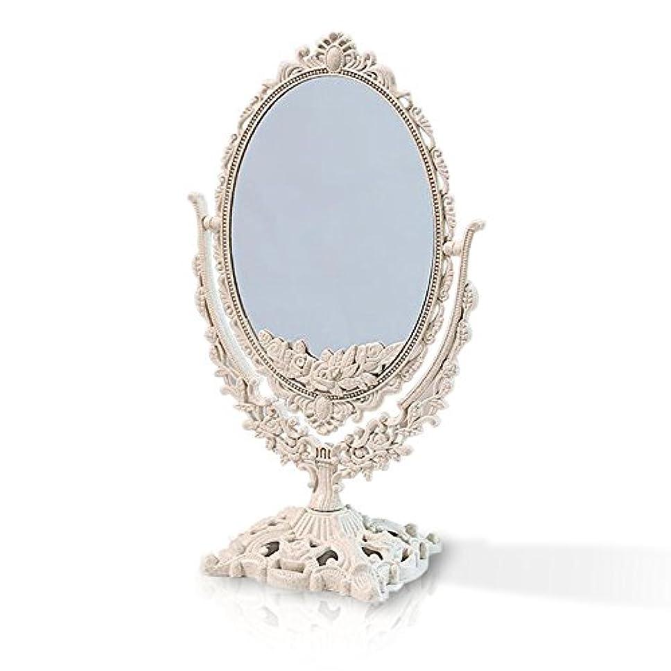絶えず音声ペデスタル桜の雪 【3倍拡大鏡付き】 両面化粧鏡  ヨーロッパ式 (大きい型)