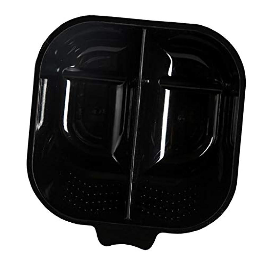 リングレット家族口径ヘアカラーボウル ヘアカラーリング用品 ヘアカラープレート 毛染め 染料 混ぜる サロン プロ用品 - ブラック