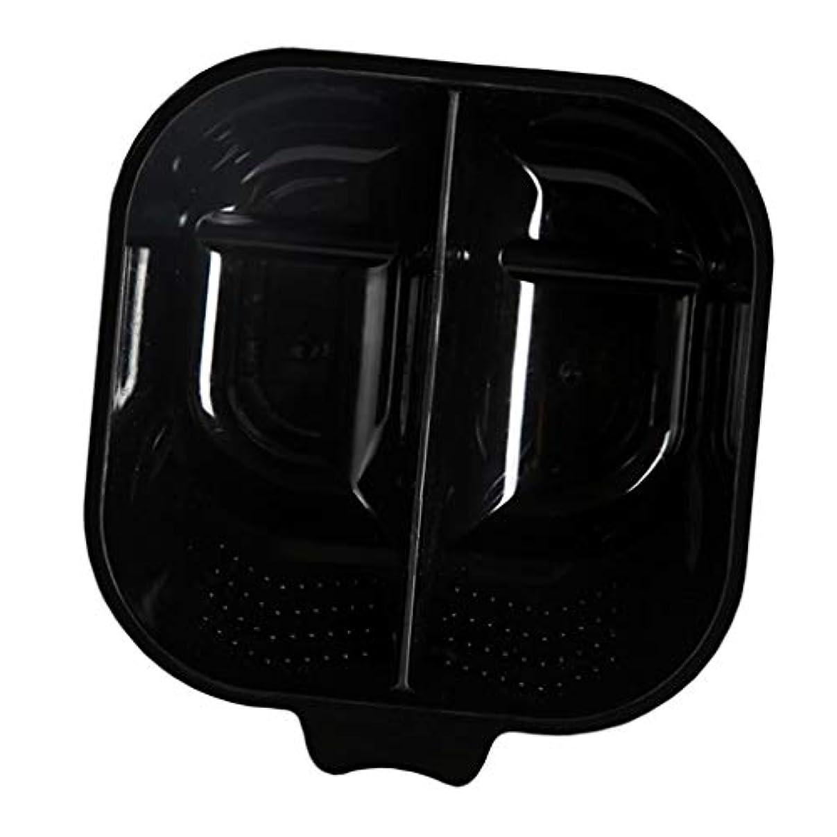 美容師啓発する吸うヘアカップ ヘアカラーボウル ヘアダイカップ 染料 混合ボール 滑り止め サロン 自宅 便利 全3色 - ブラック