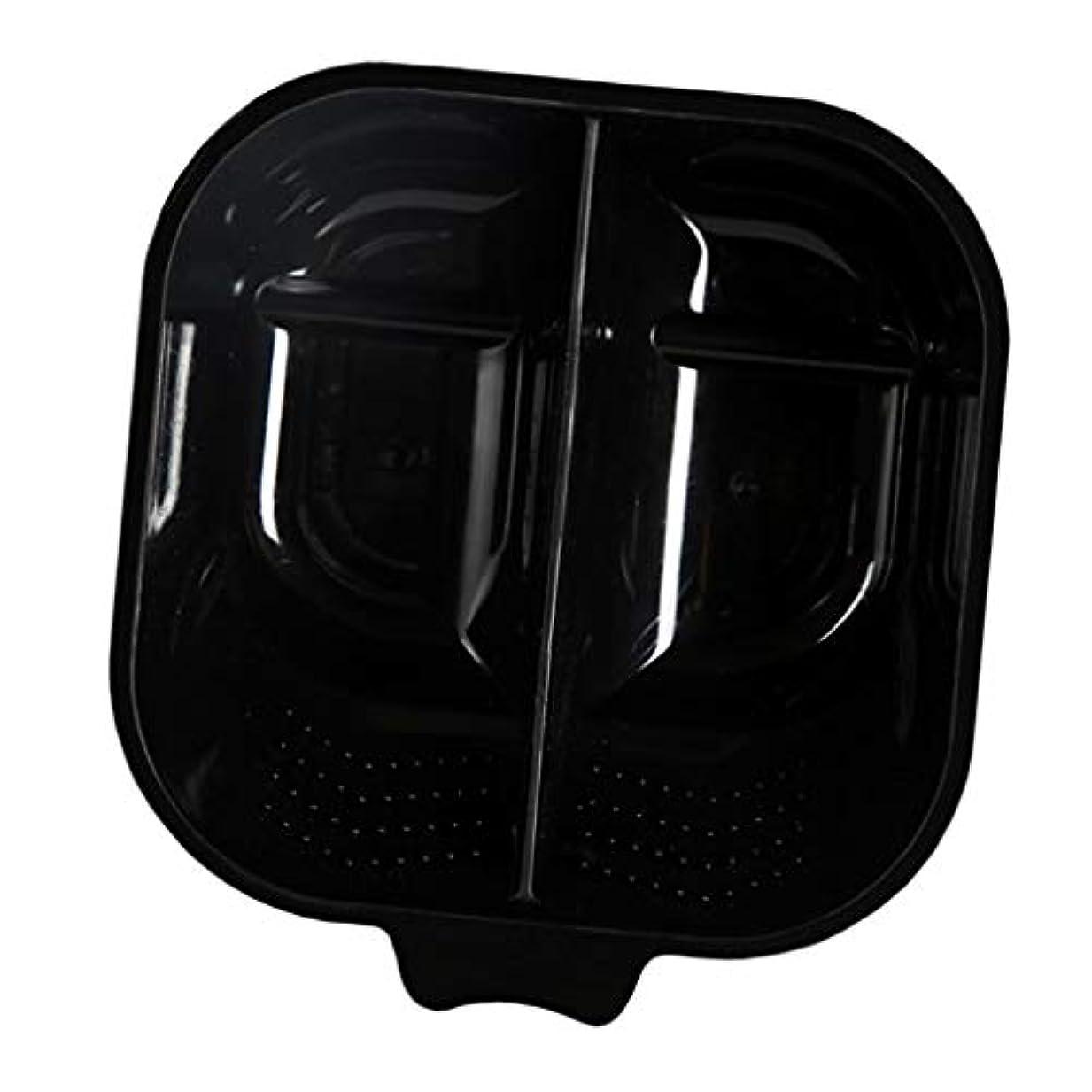 枢機卿厚さアーチヘアカップ ヘアカラーボウル ヘアダイカップ 染料 混合ボール 滑り止め サロン 自宅 便利 全3色 - ブラック