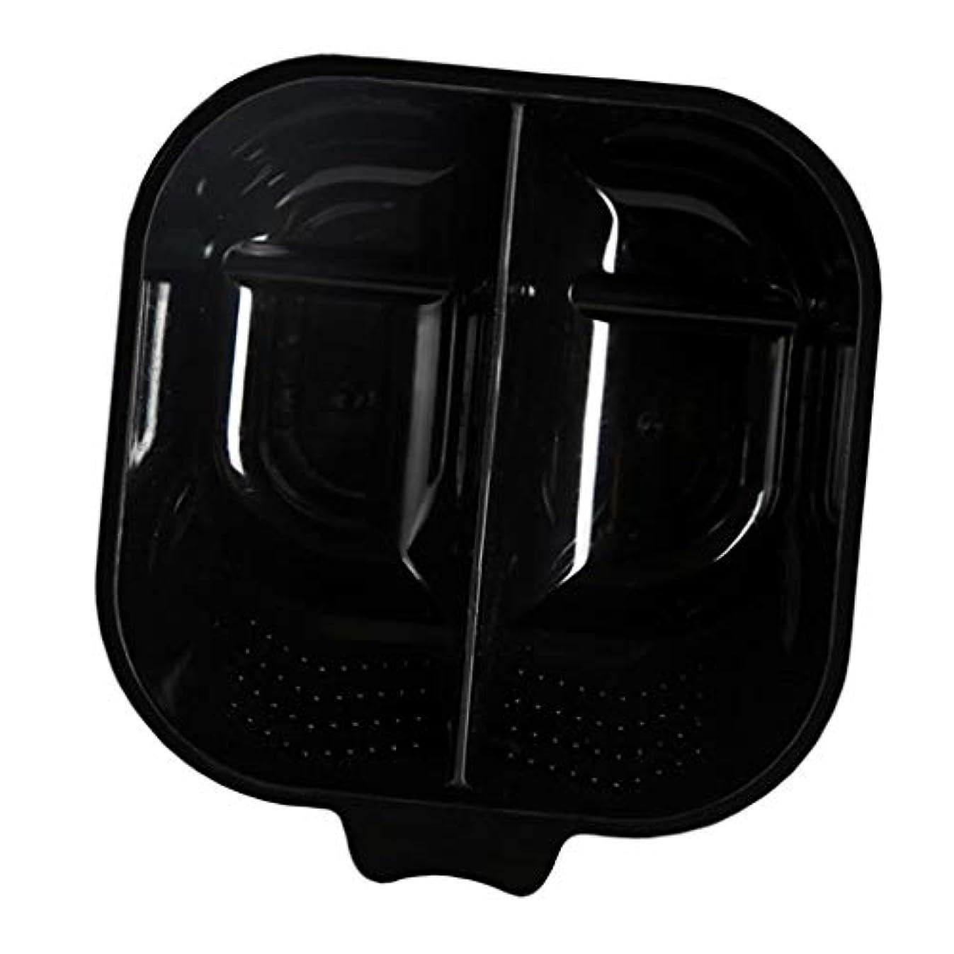 よく話される九月ドロップヘアカップ ヘアカラーボウル ヘアダイカップ 染料 混合ボール 滑り止め サロン 自宅 便利 全3色 - ブラック