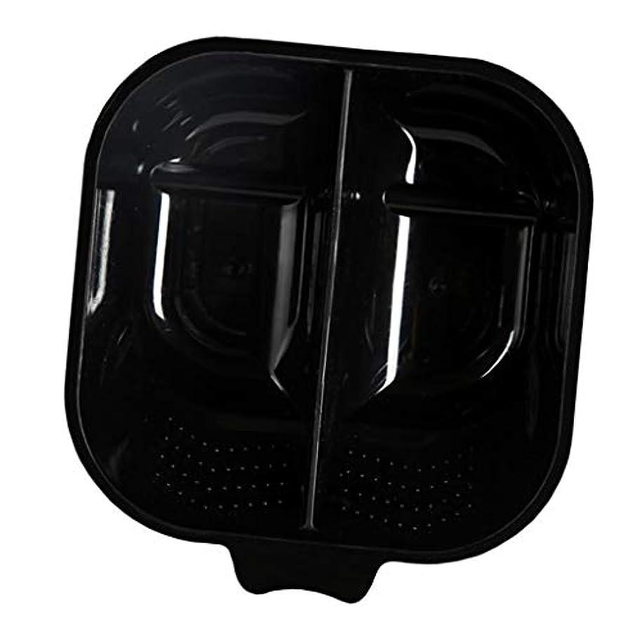バーバラ色ルアーヘアカップ ヘアカラーボウル ヘアダイカップ 染料 混合ボール 滑り止め サロン 自宅 便利 全3色 - ブラック