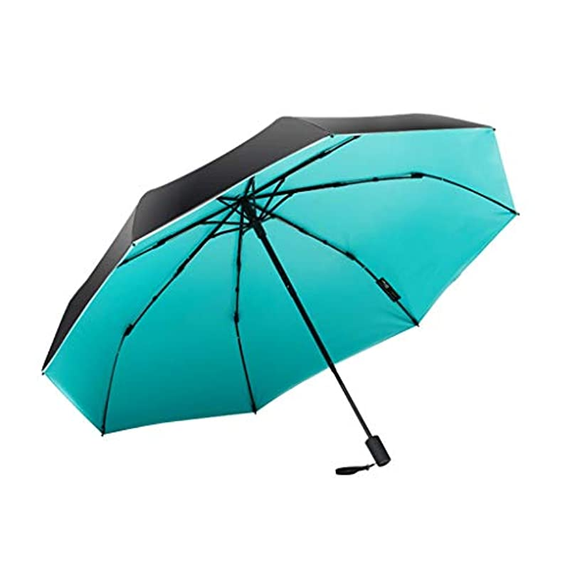 そこにもかかわらず同一のパラソル防水黒抗UV日傘超軽量雨兼用傘日焼け止めゼロライト折りたたみ傘 (色 : 青)
