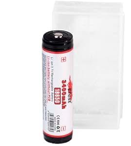 【日本製 Efest 18650 3400mAh バッテリー 付属】 電池ケース ※付属品:パナソニック製Cell+SEIKO製PCB回路搭載 3400mAh リチウムイオンバッテリー