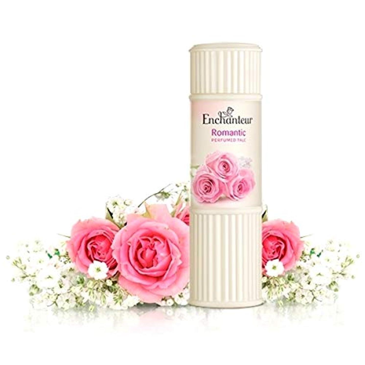 受け継ぐ倫理可塑性Enchanteur Perfumed Talc アンシャンター パフュームタルク 100g オリジナルポーチ付き【並行輸入品】 (Romantic)