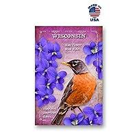 WISCONSIN BIRD AND FLOWER ポストカード 20枚セット 同一のポストカード ウィスコンシンボル ポストカード アメリカ製。