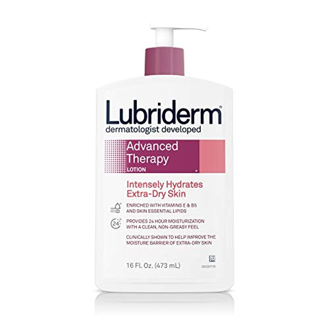 出版豆説教Lubriderm Advanced Therapy Lotion 472 ml (並行輸入品)