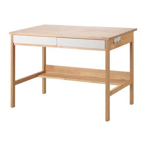 IKEA(イケア) KUNSKAP 子供用デスク, バーチ, ホワイト (60318996)