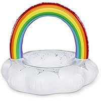 大人の子供のためのインフレータブルPVCレインボーシェイプスイミングリングプールフロートシートキッズガールズボーイズビーチおもちゃ (サイズ : M)