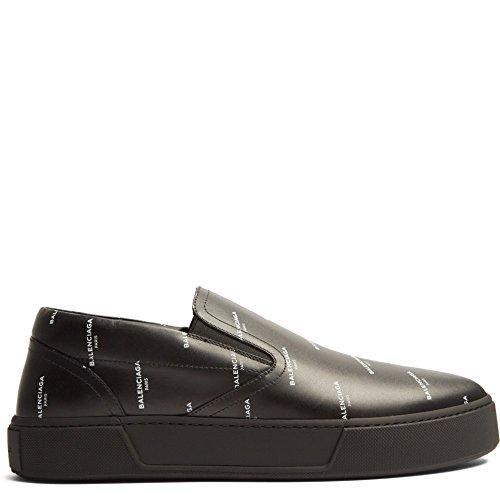 (バレンシアガ) Balenciaga メンズ シューズ・靴 スニーカー Logo-print low-top leather trainers 並行輸入品