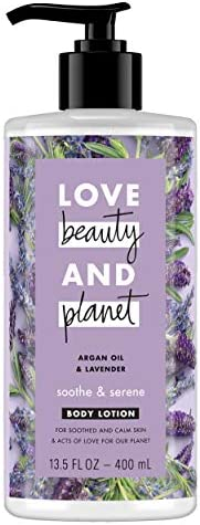 Love Beauty And Planet Argan Oil and Lavender Smooth Serene Body Lotion,400ml
