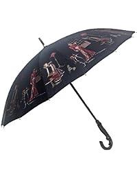 晴雨兼用傘 レディース 日本製 16本骨 手開き 軽量 甲州産ほぐし織り使用 フレンチマダム柄 おしゃれ