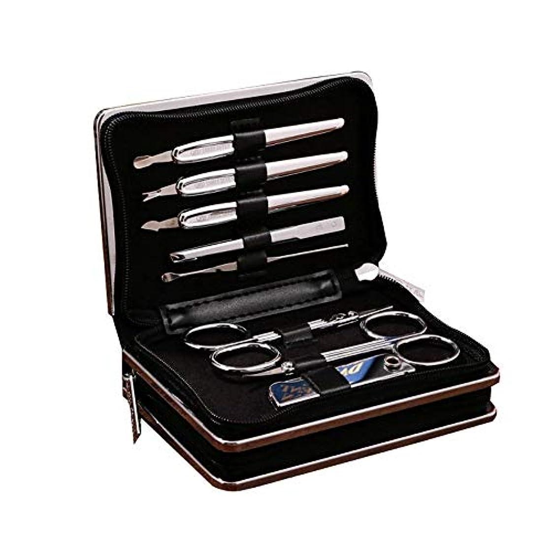 コンパイルビジネス無謀TUOFL マニキュアツールセットの14セット、毎日のニーズを満たすために完全に機能 (Color : Silver)