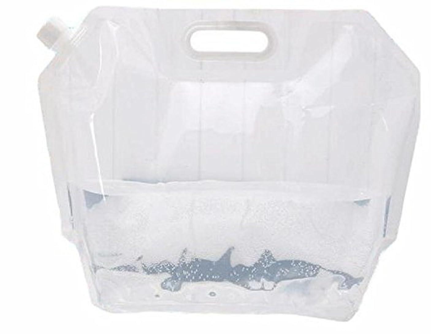 ウサギポスト印象派一掃するポリタンク 水 ポータブル 給水 タンク折り畳み式 キャンプ 災害 対策 に